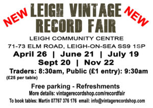 Leigh Vintage Record Fair dates